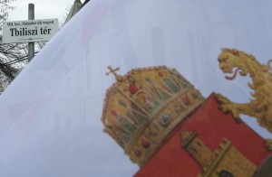 A Tbiliszi tér avató ünnepsége Budapesten