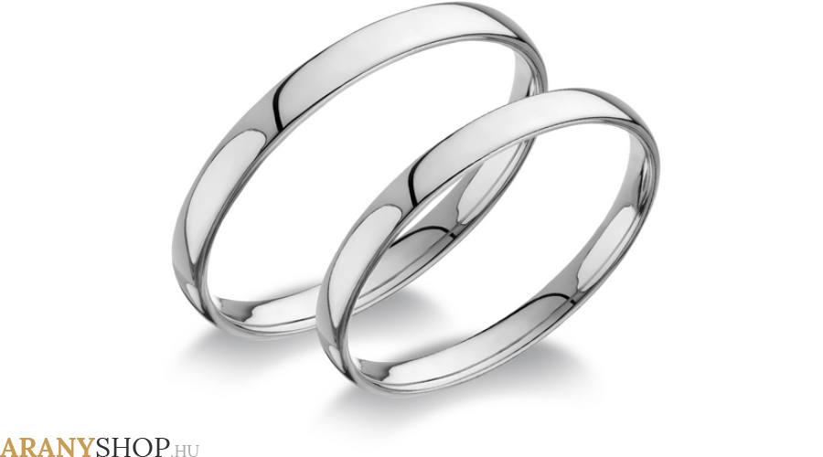 Esküvői gyűrű fehér aranyból